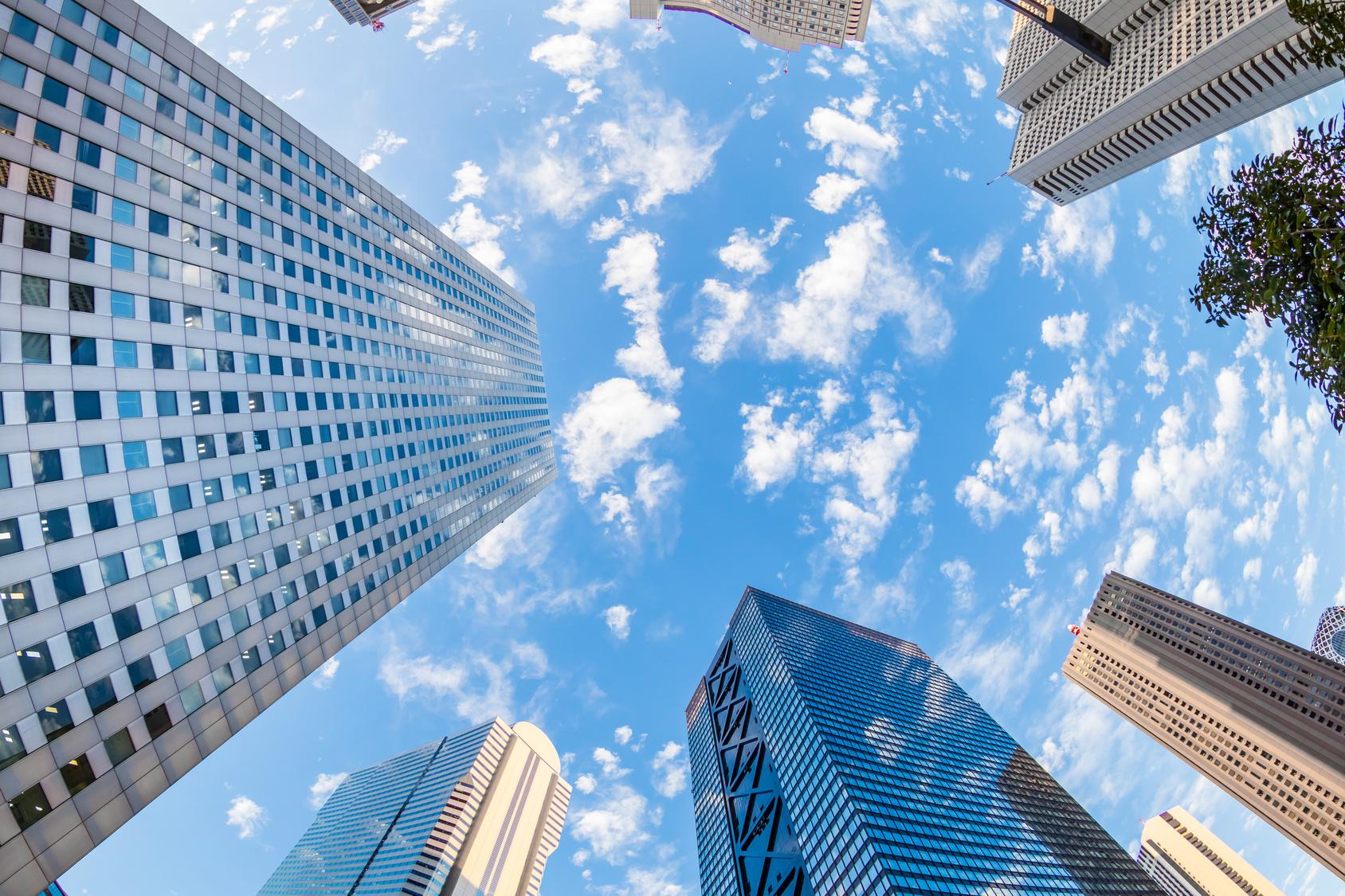 日本 新宿の風景 Tokyo Shinjuku skyscraper group
