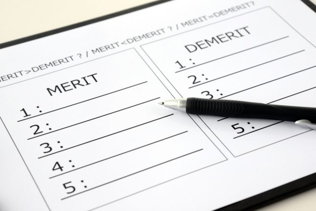 List,For,Comparison,Of,Merit,And,Demerit