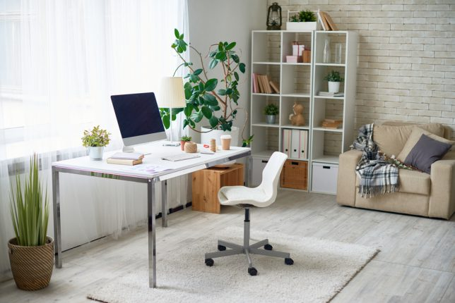 Background,Image,Of,Empty,Office,Space,In,Cozy,Apartment,With